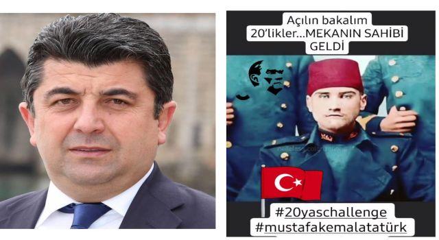 20'li yaş paylaşım akımında en anlamlı paylaşım Gazi Mustafa Kemal Atatürk paylaşımı ile Levent Uğur 'dan geldi