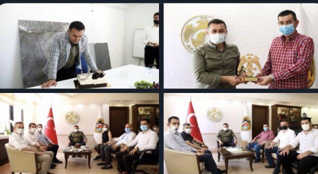 Başkan Türkdoğan ve Meclis üyeleri Adem Murat Yücel'in doğum gününü kutladılar