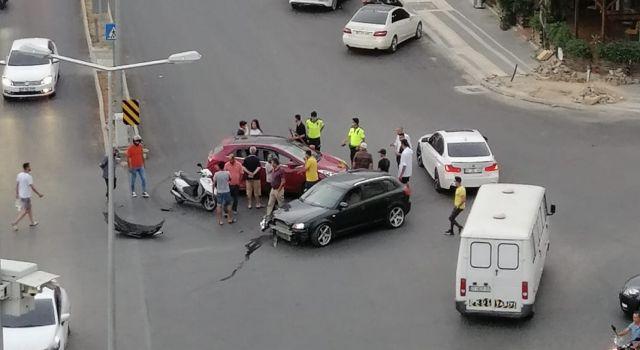 hal kavşağında kaza meydana geldi