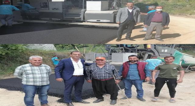 Küves ve Recepli mahallesinde asfalt çalışmaları tamamlandı