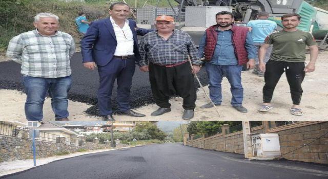 Küves ve Recepli mahallesinde asfalt çalışması tamamlandı
