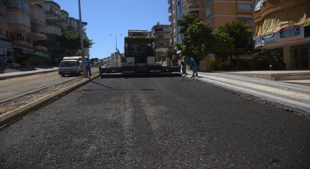 Prestij caddesi asfaltlanıyor