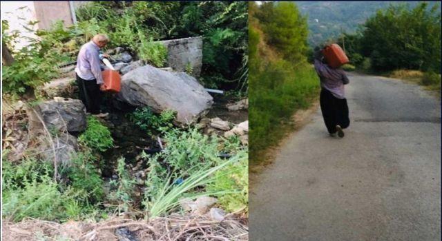 Süleymanlar köyünde su isyanı iki aydır suyu akmayan vatandaşlar Çeşme kuyruğuna giriyor