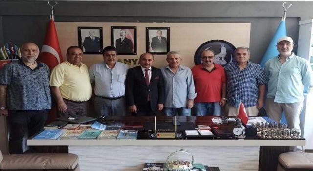 Taş medreseli ülkücüler Ocak başkanı Yavuz Uysal'ı ziyaret etti