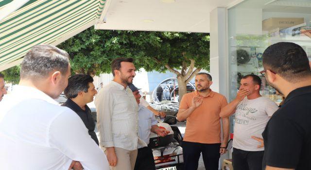 Başkan Mustafa Toklu esnafları dinlemeye devam ediyor