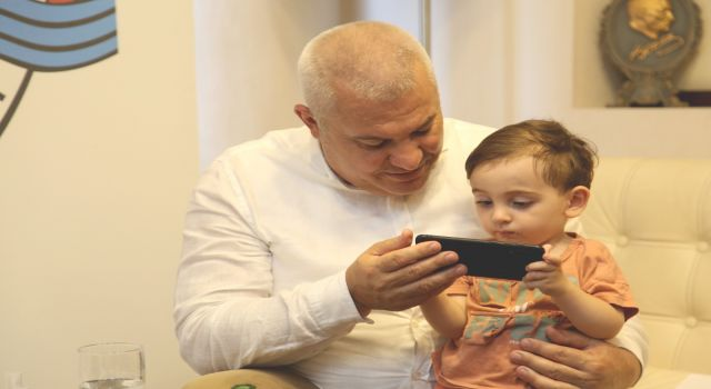 Başkan Şahin'in onur konuğu Ahmet bebek oldu