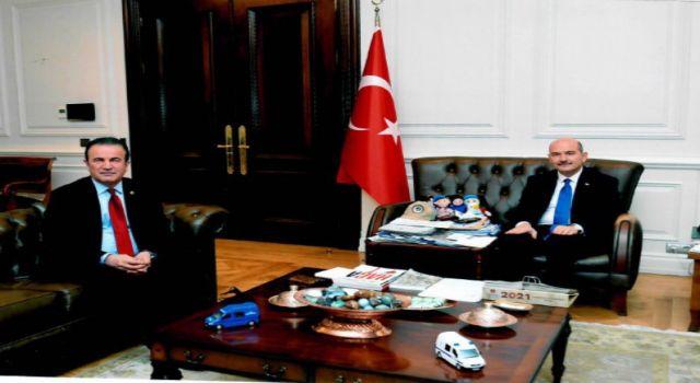 MHP'li vekil Başkan esnafların taleplerini içişleri bakanı Soylu'ya iletti