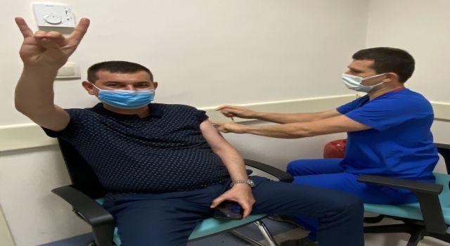 Başkan Türkdoğan aşı oldu