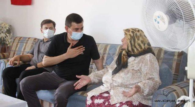 Başkan Türkdoğan şehit ailelerini ziyaret etti