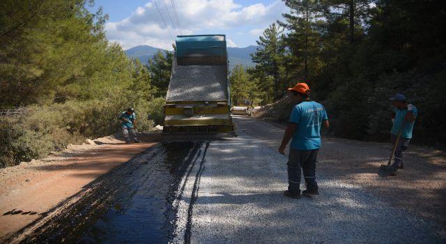 Alanya mahallelerinde asfalt çalışmaları devam ediyor