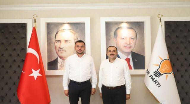 Altso Başkan adayı Tunahan Toksöz Ak parti ilçe başkanı Toklu'yu ziyaret etti