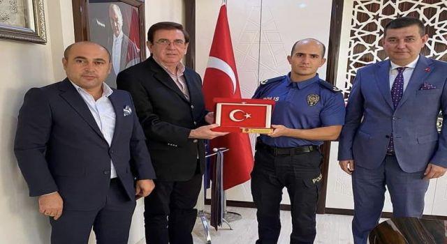 MHP'li yöneticiler yeni emniyet müdürünü ziyaret etti