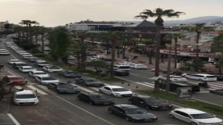 Alanya'da trafik felç oldu hayat resmen durdu