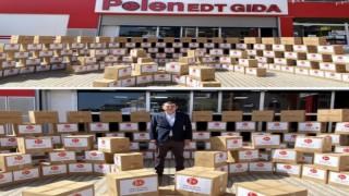 MHP ilçe teşkilatı 1500'ün üzerinde erzak kolisi dağıttı