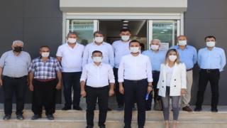 Başkan Toklu ziraat odası başkanı Tahir Göktepe'yi ziyaret etti
