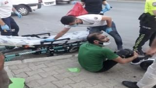 Çevreyolu'nda kaza motosiklet sürücüsü yaralandı