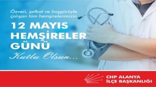 CHP ilçe başkanı Coşkun Karadağ hemşireler gününü kutladı