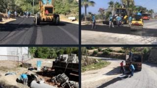Çıplaklı Fatih caddesi'ne sıcak asfalt
