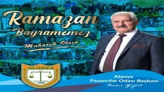 Pazarcılar odası başkanı Hasan Yiğit Alanya halkının bayramını kutladı