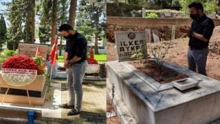 Selman Arıkan eski oda başkanları ve şehitlerimizin mezarını ziyaret etti