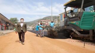 Yeni prestij caddesi asfaltlanıyor