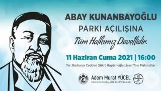 Alanya'da ünlü Kazak şair adına yapılan park açılışa hazır