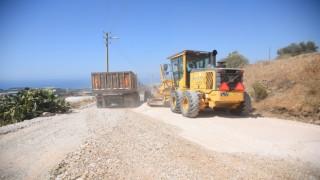 Alanya belediyesinin Doğu'dan Batı'ya asfalt çalışması devam devam ediyor